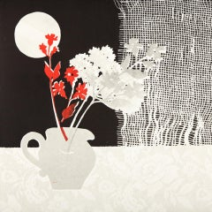 Rosemary Farrer, Still Life with Net Curtain, Still Life Print, Original Art