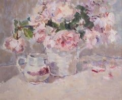 Spring Roses BY LYNNE CARTLIDGE, Flower Art, Affordable Original Painting