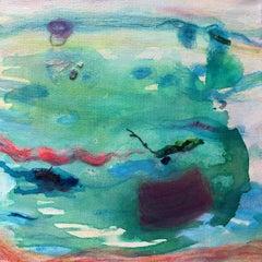 Roberta Tetzner, Wind Dance 2, Original Abstract Art, Contemporary Blue Painting