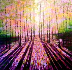 Amanda Horvath, The Harmony of Trees, Contemporary Bright Landscape Painting