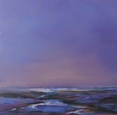 Sea Lavender, Helen Robinson, Original Seascape Painting, Purple Painting