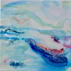 Roberta Tetzner, Wind Dance 3, Contemporary Impressionist Art, Blue Abstract Art
