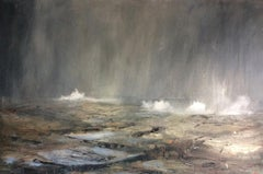 Precipitation in Sunshine, Kim Pragnell, Original Seascape Art, Atmospheric Art