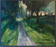 Mike Ibbotson, Approach to Grim's Ditch Ridgeway, Original Landscape Painting