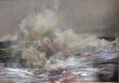 Outer Hebrides, Kim Pragnell, Dramatic Seascape Painting, Impressionist Art