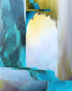 Katie Hallam, Blue Haze, Limited Edition Abstract Print, Geometric Photograph