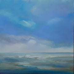 Tranquillity, Helen Robinson, Original Seascape Painting, Blue Art, Affordable