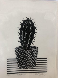 Kerry Day, Cactus I, Open Edition Print, Monochrome Print, Gift Art, Affordable