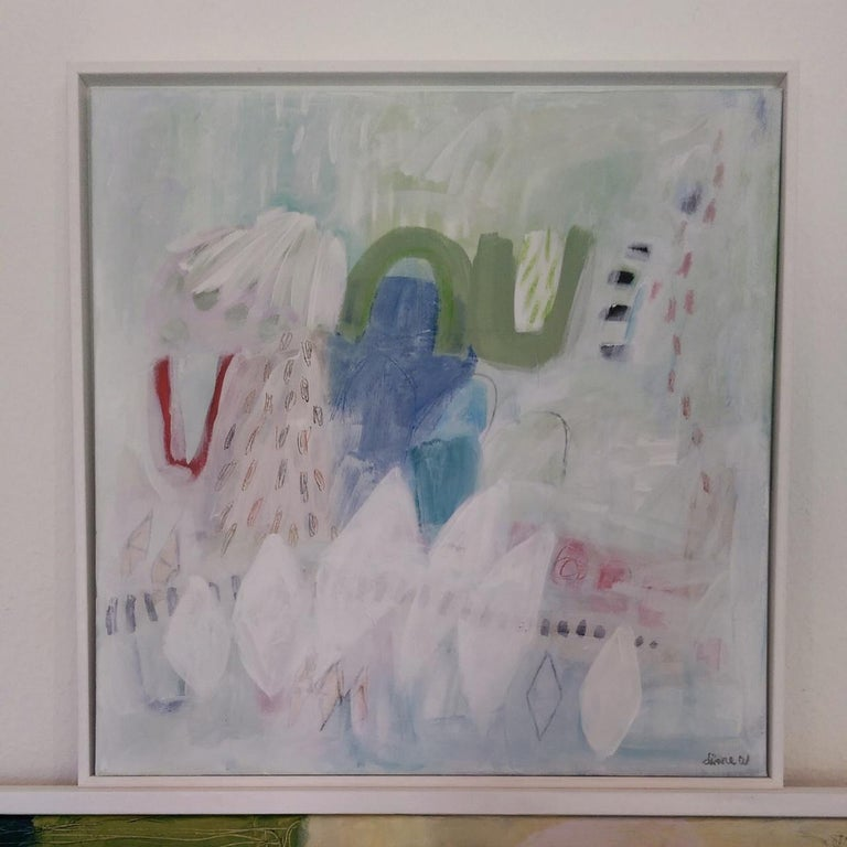 Flirtatious, Diane Whalley, Original Abstract Art, Pastel Painting, Bright Art For Sale 1