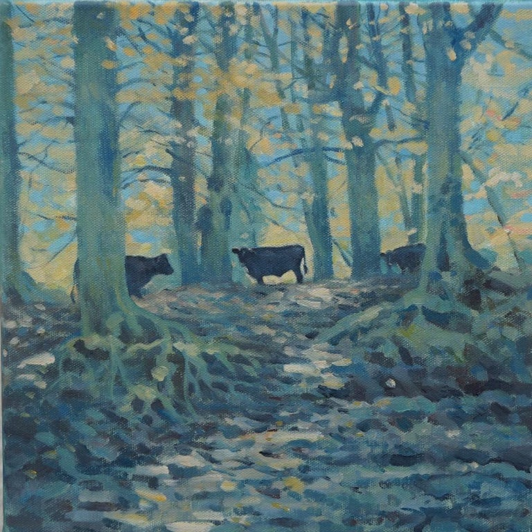 Colin Allbrook Landscape Painting - Under the Beech Trees, Original Oil Painting, Landscape Art