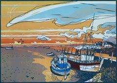 Colin moore, Brancaster, Sea Art, Contemporary Seascape Print, Norfolk Art