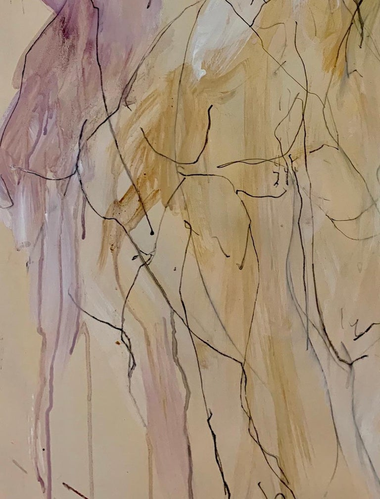 Judith Brenner, Sophie Dancing 1, Original Figurative Art, Abstract Sketch Art For Sale 2