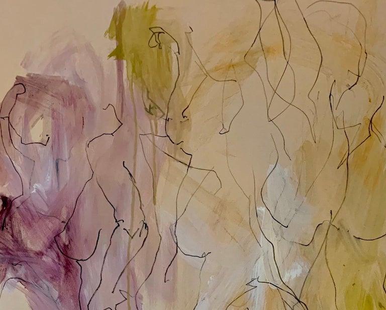 Judith Brenner, Sophie Dancing 1, Original Figurative Art, Abstract Sketch Art For Sale 3