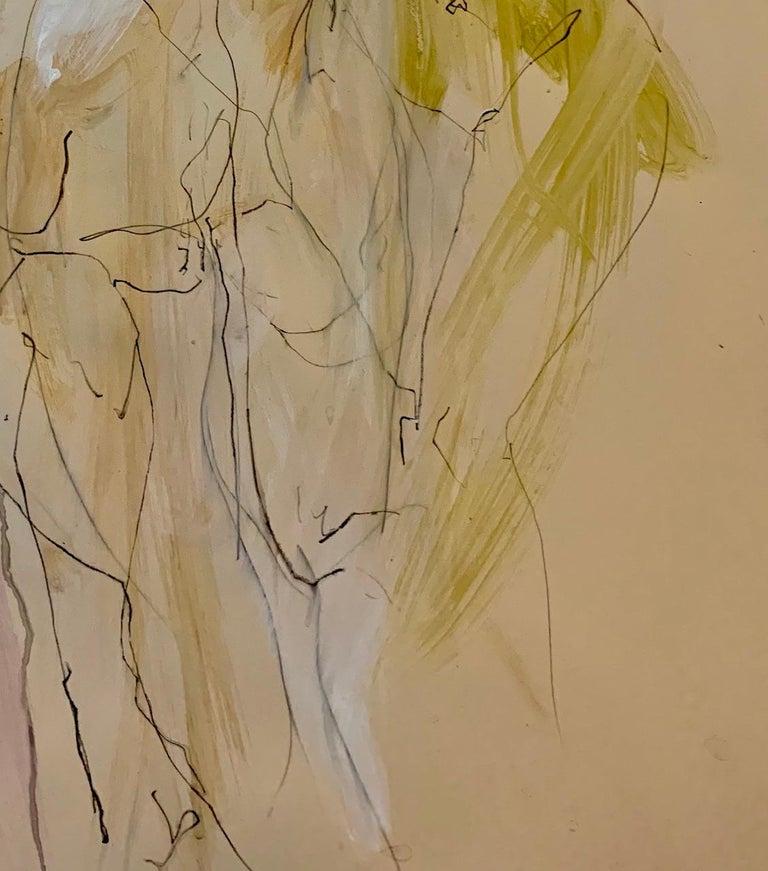 Judith Brenner, Sophie Dancing 1, Original Figurative Art, Abstract Sketch Art For Sale 4