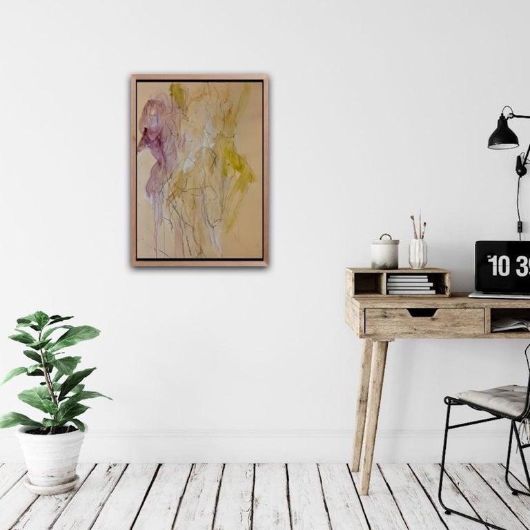 Judith Brenner, Sophie Dancing 1, Original Figurative Art, Abstract Sketch Art For Sale 6