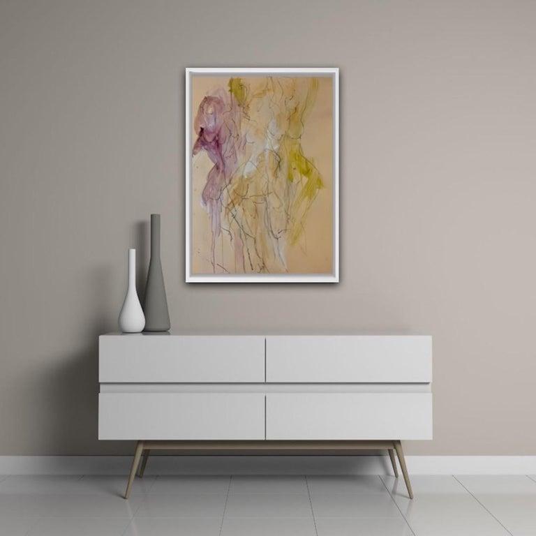Judith Brenner, Sophie Dancing 1, Original Figurative Art, Abstract Sketch Art For Sale 7