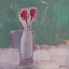 Diane Whalley, Together, Original Still Life Painting, Semi-Abstract Painting
