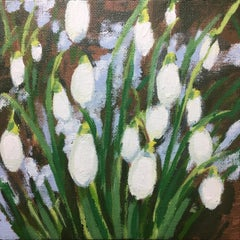 Snowdrops and Snow study 1, Alexandra Buckle, Original Floral Painting