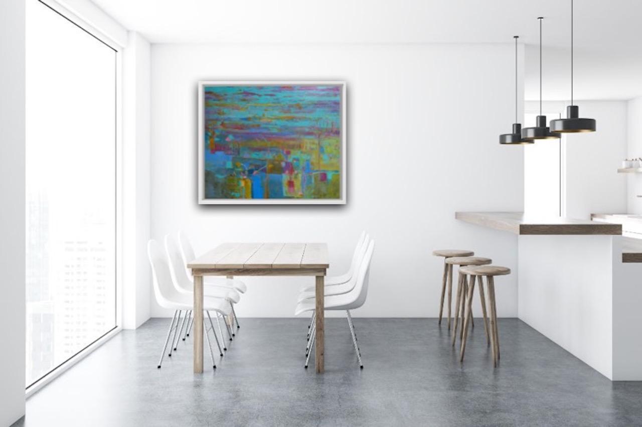 Sea Garden, Teresa Pemberton, Original Abstract Seascape Painting, Bright Art