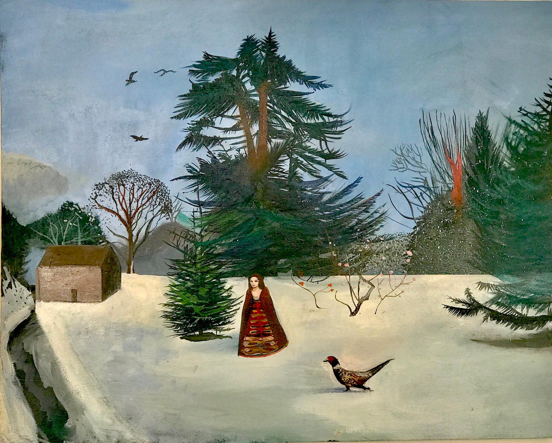 The Pheasant, Daisy Clarke, Traditional Oil Painting, Large Landscape Artwork