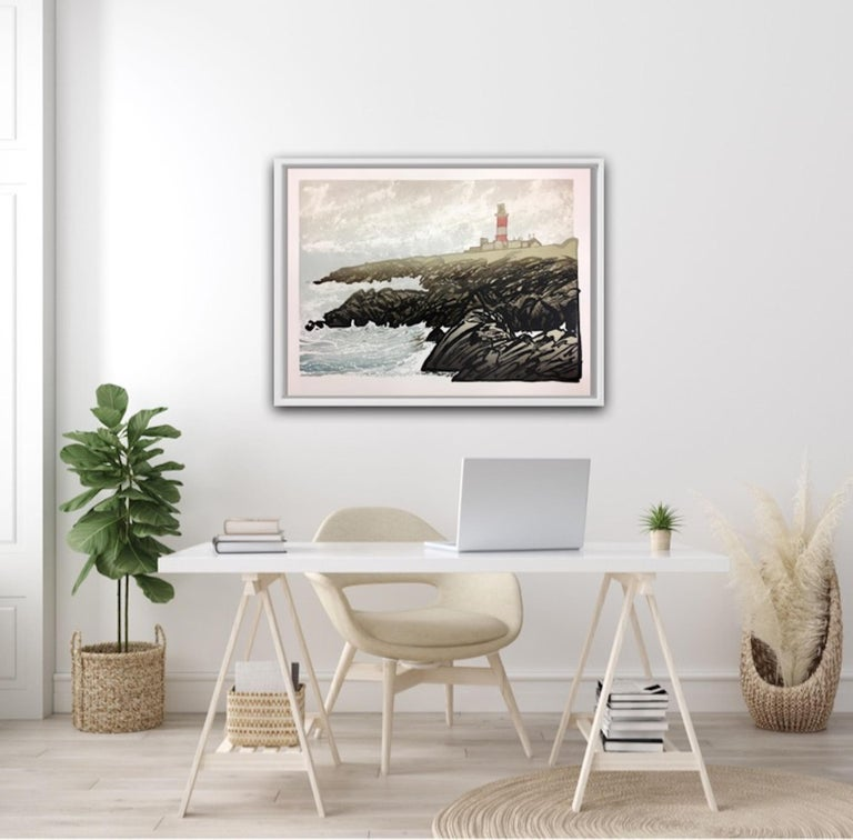 Ian Phillips, Lighthouse, Limited Edition Seascape Print, Coastal Art, Seaside For Sale 4