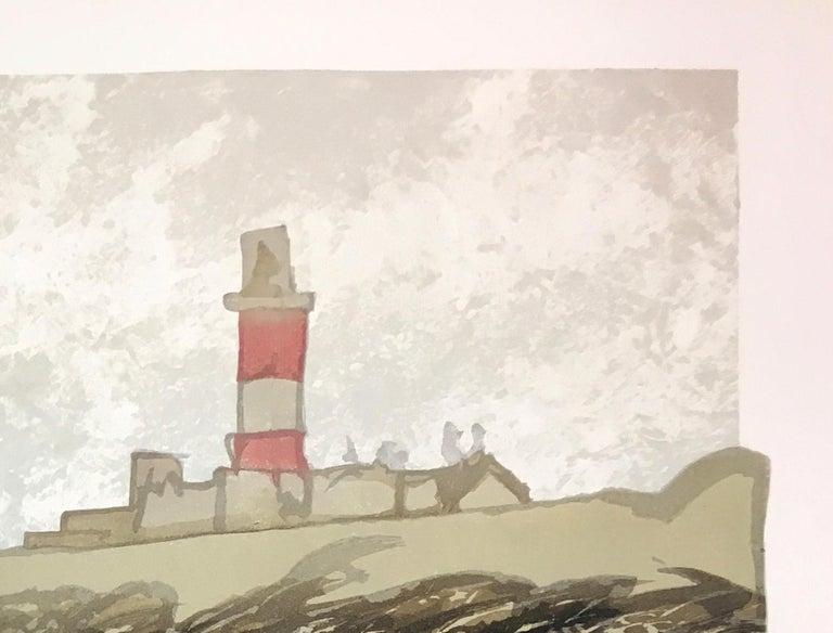 Ian Phillips, Lighthouse, Limited Edition Seascape Print, Coastal Art, Seaside For Sale 1