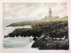 Ian Phillips, Lighthouse, Limited Edition Seascape Print, Coastal Art, Seaside
