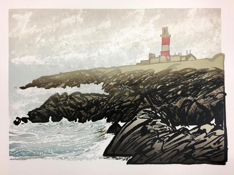 Ian Phillips, Lighthouse, Limited Edition Seascape Print, Coastal Art, Seaside - Beige Interior Print by Ian Phillips