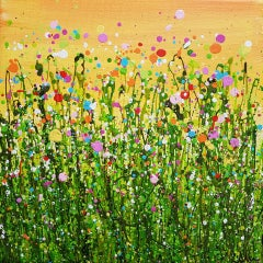 Lucy Moore, Meadow Spray #2, Original Abstract Expressionist Landscape Painting