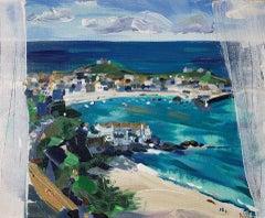 St Ives Porthminster Beach, Angela Gordon-Webb, Original Seascape Painting