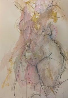 Judith Brenner, Solfrid Dancing 2, Original Contemporary Figurative Nude Sketch