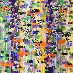 Robert Dunt, Dundonald Blossom, Original Abstract Painting, Statement Artwork