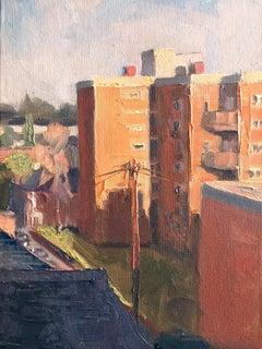 Benedict Flanagan, Brockley, Original Impressionist London Cityscape Painting
