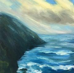 Suzanne Winn, Whitehead Sands III, Original Seascape Painting, Affordable Art
