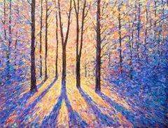 Lee Tiller, End of the Day, Original Landscape Painting, Impressionist Artwork