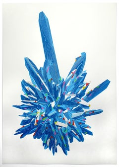 Chris Keegan, Blue Gemstone, Limited Edition Print, Still Life Print, Happy Art