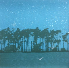 Swoop, Anna Harley, Contemporary Landscape Print, Minimalist Affordable Art