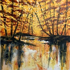 Adele Riley, Here with Me, Original Landscape Art, Contemporary Impressionism