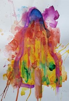 Gavin Dobson, Melted Rocket, Watercolour Painting, Original Artwork