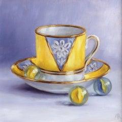 Marie Robinson, Hello Sunshine, Bright Art, Original Still Life Oil Painting
