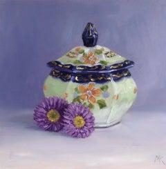 Marie Robinson, Daisy, Daisy, Original Realist Painting, Still Life Artwork