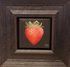 Strawberry, Dani Humberstone, Original Fruit Painting, Oil Painting, Classic Art