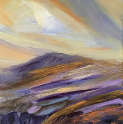 Suzanne Winn, Mountain III, Original Abstract Landscape Painting, Oil Painting