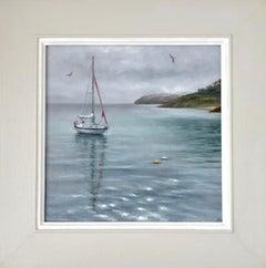 Marie Robinson, Calm Mooring, Original Seascape Art, Boat Art, Sailing Art