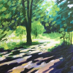 Alexandra Buckle, Summer Tree Glow 1, Original Impressionist Landscape Art