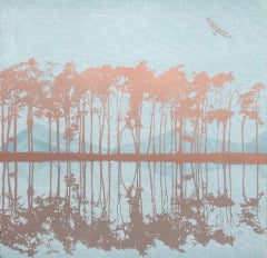 Anna Harley, Breathe, Minimalist Landscape Print, Contemporary Art, Affordable