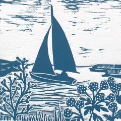 Kate Heiss, Blakeney Point, Bright Art, Sailing Art, Boat Art, Gift ARt