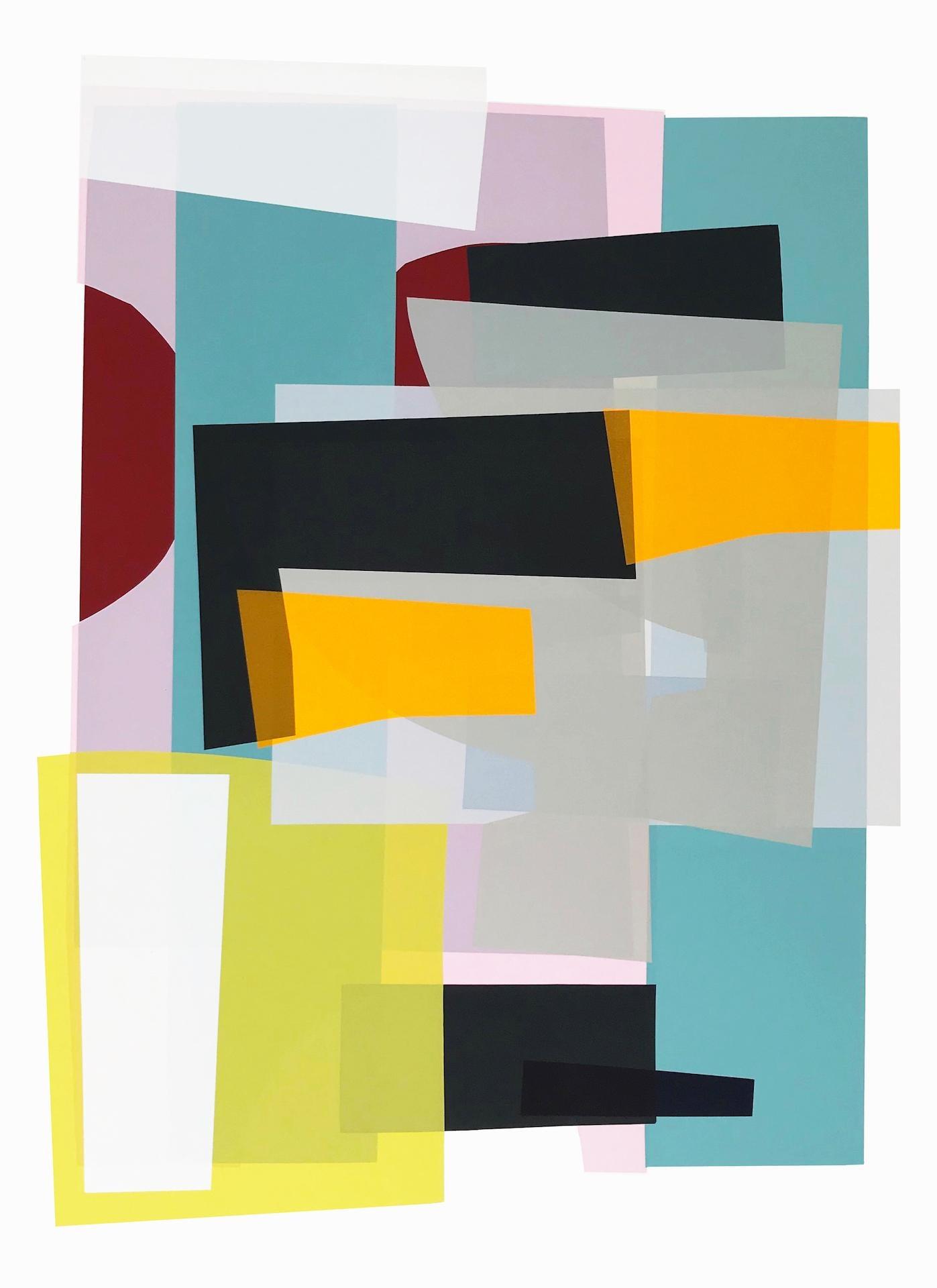 Jonathan Lawes, Lago Verde, Unique Geometric Print, Original Abstract Art