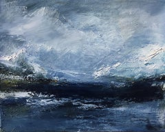 Maria Floyd, Under a Low Sky, Original Expressionist Seascape Painting