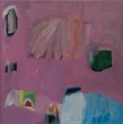 Raspberry Ripple, Original Contemporary Abstract Painting, Diane Whalley